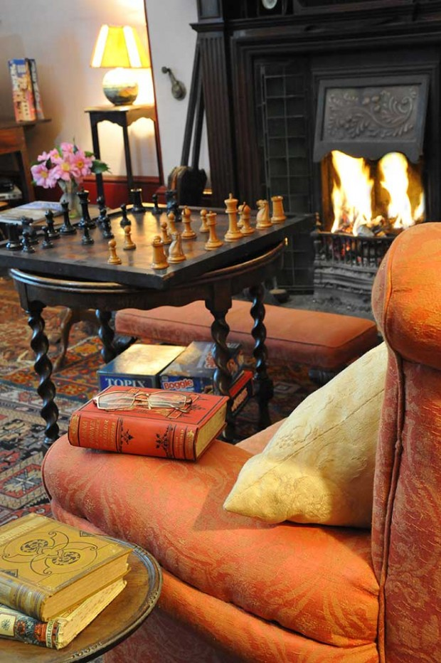 Country House Tours chess in Library